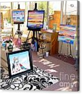 My Studio And Paintings Acrylic Print