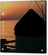 Mykonos Island Sunset Greece Acrylic Print