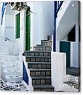 Mykonos Stairs Acrylic Print