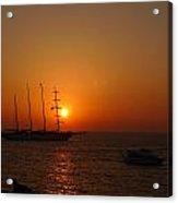 Mykonos Sunset Acrylic Print