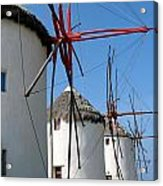 Mykonos Windmills Acrylic Print