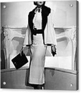 Myrna Loy, Mgm Portrait By Clarence Acrylic Print