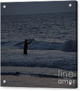 Mysterious Fisherman Acrylic Print
