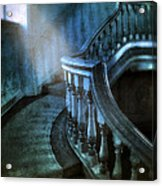 Mysterious Stairway In Old Mansion Acrylic Print