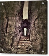 Mysterious Stairway Into A Canyon Acrylic Print
