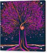 Mystic Spiral Tree 1 Pink By Jrr Acrylic Print