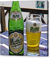 Mythos Beer Acrylic Print