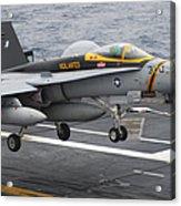 N Fa-18f Super Hornet Lands Aboard Acrylic Print