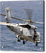 N Hh-60h Sea Hawk Helicopter In Flight Acrylic Print