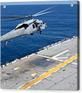 N Mh-60s Sea Hawk Helicopter Lifts Acrylic Print