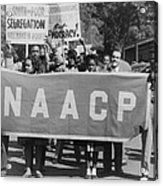 Naacp Banner Is Held By Protesters Acrylic Print by Everett