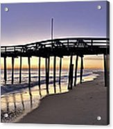 Nags Head Fishing Pier At Sunrise - Outer Banks Scenic Photography Acrylic Print