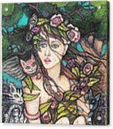 Nancy Jo Heart Of Gold Acrylic Print