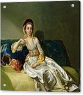Nancy Parsons In Turkish Dress Acrylic Print