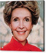 Nancy Reagan, 40th First Lady Acrylic Print by Photo Researchers