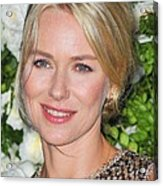 Naomi Watts At Arrivals For Chanel 6th Acrylic Print by Everett