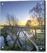 Narrow Iron Bridge Acrylic Print