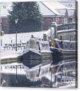 Narrowboats At The Boat Inn Acrylic Print