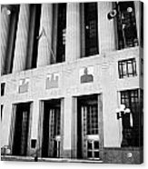 Nashville City Hall Davidson County Public Building And Court House Tennessee Usa Acrylic Print by Joe Fox