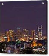 Nashville Cityscape 9 Acrylic Print by Douglas Barnett
