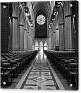 National Cathedral Interior Bw Acrylic Print
