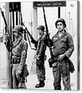 National Guardsmen At A Los Angeles Acrylic Print by Everett