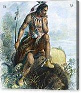 Native American Hunter Acrylic Print