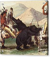 Native American Indian Bear Hunt, 19th Acrylic Print
