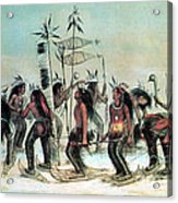 Native American Indian Snow-shoe Dance Acrylic Print