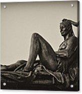 Native American Statue - Eakins Oval Philadelphia Acrylic Print