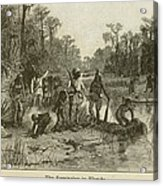 Natives Of Many Southeastern Tribes Acrylic Print by Everett