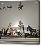 Nativity Set Acrylic Print