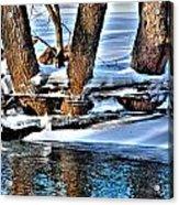 Nature's Icy Abstract No.2 Acrylic Print