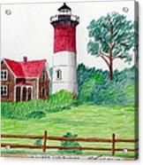 Nauset Lighthouse Drawing Acrylic Print