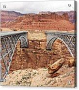 Navajo Bridge In Arizona Acrylic Print