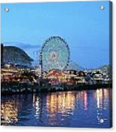 Navy Pier Chicago Digital Art Acrylic Print