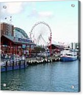 Navy Pier Chicago Summer Time Acrylic Print