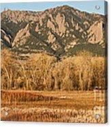 Ncar And Flatiron View Boulder Colorado   Acrylic Print