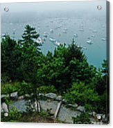 Ne Harbor Maine Seen From Thuya Gardens Mt Desert Island  Acrylic Print