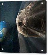 Near-earth Asteroid, Artwork Acrylic Print by Henning Dalhoff