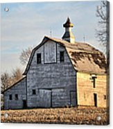 Nebraska Barn In Otoe County Acrylic Print