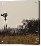 Nebraska Windmill Acrylic Print