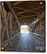 Neet Covered Bridge Interior Acrylic Print