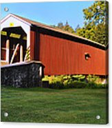 Neff's Mill Covered Bridge In Lancaster County Pa. Acrylic Print