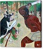 Neg Mawon Haiti 1791 Acrylic Print by Nicole Jean-Louis
