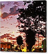 Neighborhood Silhouette  Acrylic Print
