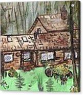 Neighbors Cabin Montana Acrylic Print