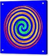 Neon Spiral Blue Acrylic Print