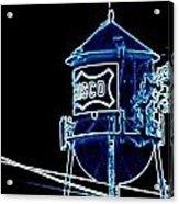Neon Water Tower Acrylic Print