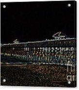 Neoned Pier Acrylic Print